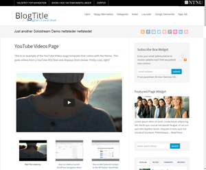bloggtjeneste - layout youtube videos page